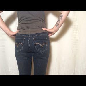 Levi's dark rinse stretch leggings 💕